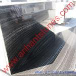 Wood black marble