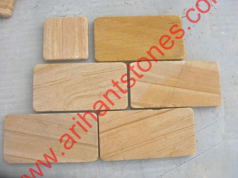 Teak Tumbled Bricks